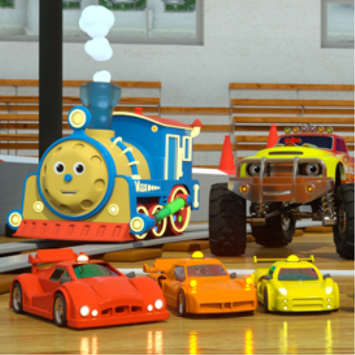 Max The Glow Train Race Cars