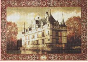 Vodní zámek (Water Castle) | Crafting | Cross-Stitch | Wall Hangings