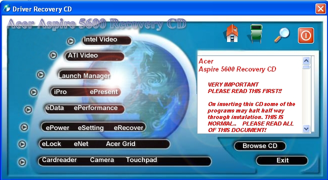 Acer eRecovery - Full System Recovery (English) - YouTube