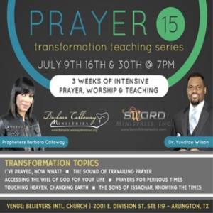 Prayer Series 15 - Prophetess Calloway & Dr. Yundrae | Other Files | Presentations
