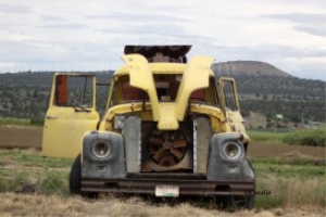 old farm work truck