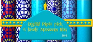 digital paper morrocan tile