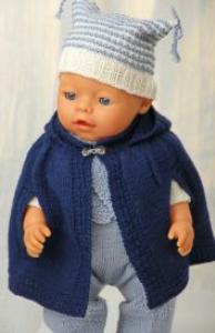DollKnittingPattern 0132D MARIA - Lange Broek, Trui, Cape, Sokjes, Muts en Sjaal-(Nederlands) | Crafting | Knitting | Baby and Child