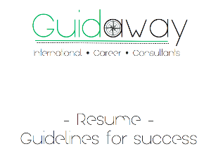 resume - guidelines for success