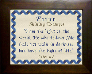 Name Blessings -  Easton 2 | Crafting | Cross-Stitch | Religious