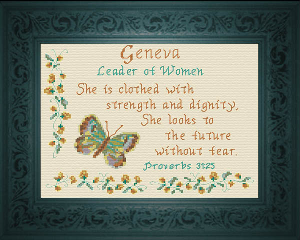 Name Blessings -  Geneva | Crafting | Cross-Stitch | Religious