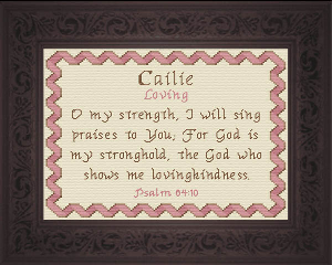 Name Blessings -  Cailie | Crafting | Cross-Stitch | Religious