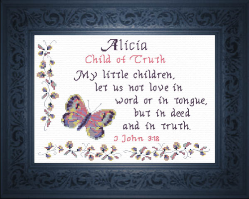 First Additional product image for - Name Blessings -  Alicia