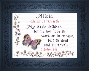Name Blessings -  Alicia | Crafting | Cross-Stitch | Religious