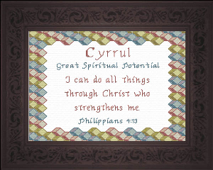 Name Blessings -  Cyrrul | Crafting | Cross-Stitch | Religious