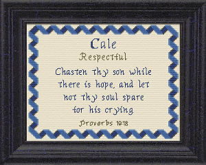 Name Blessings -  Cale | Crafting | Cross-Stitch | Other