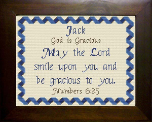 Name Blessings -  Jack 2 | Crafting | Cross-Stitch | Religious