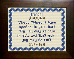 Name Blessings -  Carson 2 | Crafting | Cross-Stitch | Religious