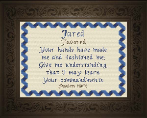 Name Blessings -  Jared | Crafting | Cross-Stitch | Other