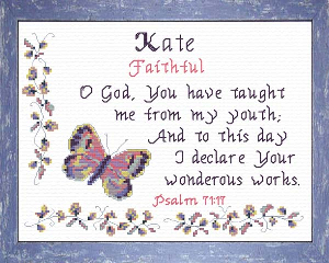 Name Blessings -  Kate | Crafting | Cross-Stitch | Religious