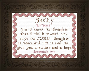 Name Blessings -  Shelby | Crafting | Cross-Stitch | Religious