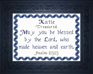 Name Blessings -  Katie | Crafting | Cross-Stitch | Religious