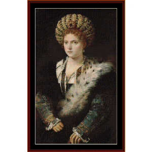Isabella d'Este - Titian cross stitch pattern by Cross Stitch Collectibles | Crafting | Cross-Stitch | Wall Hangings
