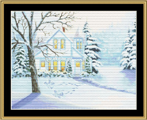 Christmas Snow Angles | Crafting | Cross-Stitch | Wall Hangings