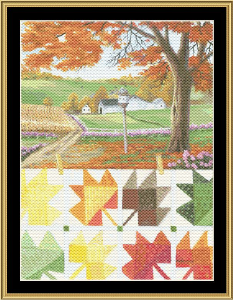 Maple Leaf Quilt | Crafting | Cross-Stitch | Wall Hangings