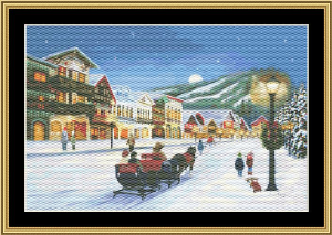 Christmas Village | Crafting | Cross-Stitch | Wall Hangings