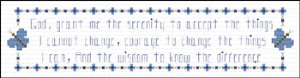 Serenity Prayer Bookmark | Crafting | Cross-Stitch | Religious