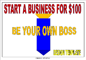 start a business for $100