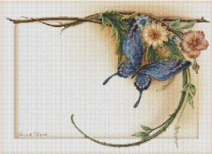 Motýl (The Butterfly) | Crafting | Cross-Stitch | Wall Hangings