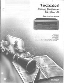 technics compact disc changer sl-mc700 operating instructions manual