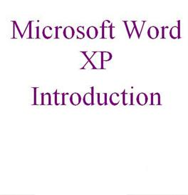 Microsoft Word Introduction for XP & 2003 | Software | Training