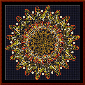 Fractal 517 cross stitch pattern by Cross Stitch Collectibles | Crafting | Cross-Stitch | Wall Hangings