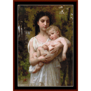 The Younger Brother, 1900 - Bouguereau cross stitch pattern by Cross Stitch Collectibles | Crafting | Cross-Stitch | Wall Hangings
