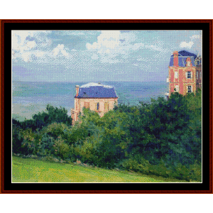 Villas at Villers su Mer - Caillebotte cross stitch pattern by Cross Stitch Collectibles | Crafting | Cross-Stitch | Wall Hangings