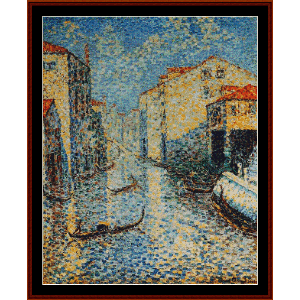 Venetian Canal - H.E. Cross cross stitch pattern by Cross Stitch Collectibles | Crafting | Cross-Stitch | Wall Hangings