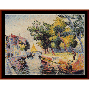 Ponte San Trovaso - H.E. Cross cross stitch pattern by Cross Stitch Collectibles | Crafting | Cross-Stitch | Wall Hangings