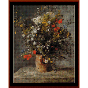 Flowers in a Vase II - Renoir cross stitch pattern by Cross Stitch Collectibles | Crafting | Cross-Stitch | Other