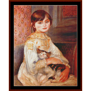 Child with Cat - Renoir cross stitch pattern by Cross Stitch Collectibles | Crafting | Cross-Stitch | Wall Hangings