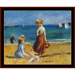 Figures on the Beach - Renoir cross stitch pattern by Cross Stitch Collectibles | Crafting | Cross-Stitch | Other
