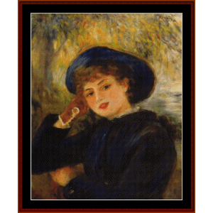 Woman Leaning on Elbow, 1882 - Renoir cross stitch pattern by Cross Stitch Collectibles | Crafting | Cross-Stitch | Wall Hangings