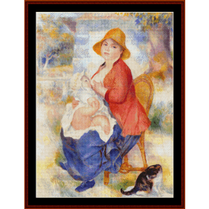 Woman Breast feeding - Renoir cross stitch pattern by Cross Stitch Collectibles | Crafting | Cross-Stitch | Wall Hangings