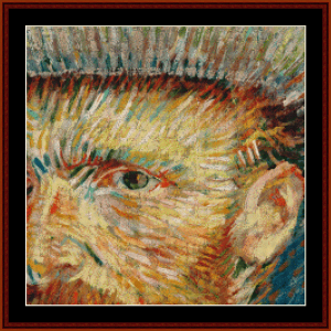 Self Portrait with Grey Hat - Van Gogh cross stitch pattern by Cross Stitch Collectibles | Crafting | Cross-Stitch | Wall Hangings