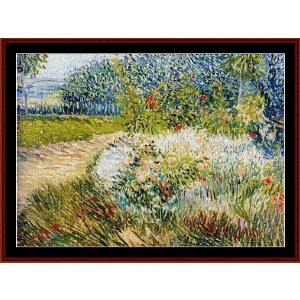 Voyer d'Argenson Park - Van Gogh cross stitch pattern by Cross Stitch Collectibles | Crafting | Cross-Stitch | Wall Hangings