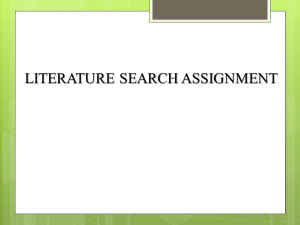 PICOT Statement and Literature Search | Documents and Forms | Research Papers