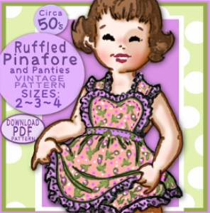 toddler ruffled sun dress w/ matching panties
