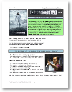 INTERSTELLAR, Whole-Movie English (ESL) Lesson | eBooks | Education