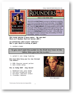 ROUNDERS, Whole-Movie English (ESL) Lesson | eBooks | Education