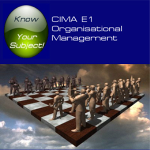 CIMA E1 Organisational Management | Software | Training