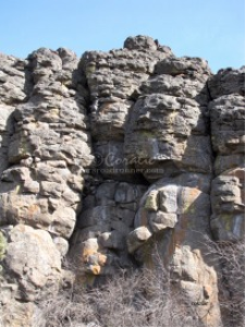 rock formation of the high desert