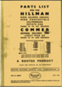 Hillman Parts List | eBooks | Reference