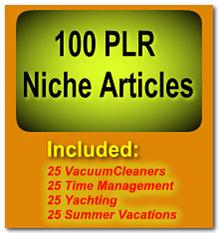 100 PLR Niche Articles | eBooks | Internet
